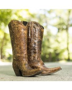Lucchese Women's Autumn Dry Leaf Cowgirl Boots  http://www.countryoutfitter.com/products/39975-womens-autumn-dry-leaf-boot