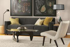 Dark grey sofa! The Dean Collection from Room & Board: http://www.roomandboard.com
