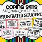 Free! Student Strategy Anchor Chart for dealing with Frustration in the classroom.  Students can practice using coping skills..