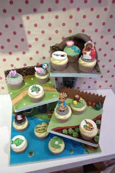 Beatrix potter cupcake display for cake international 2013 - which won silver made by me
