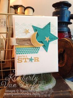Be a Star | Stampin' Up! :: StampinByTheSea.com  Creating with Stampin' Up! stamps makes you a star!  Love this stamp set.