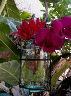 outdoor wedding aisle marker -Mason Jar Holders