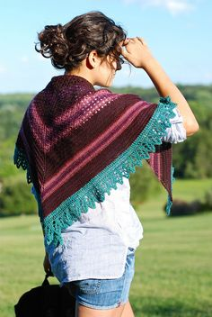 Roma Shawl by Kirsten Kapur. Knitting pattern is $6.00. Two variations.