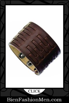 Mens Leather Cuff Bracelets on Pinterest