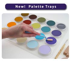 PanPastel offers artist pastels and now you can purchase one of their new Palette Trays....   there's lots of info on their site complete with techniques, gallery and blog.... a lovely site on which to play wish and want ...and purchase!
