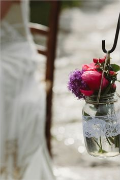 wedding decor ideas http://www.weddingchicks.com/2013/12/12/dreamy-tuscan-wedding/ tuscan wedding, mason jars