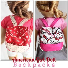 American Girl Doll Pattern to make a backpack for your doll from realcoake.com