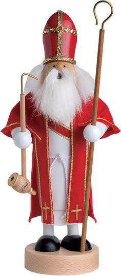 St. Nicholas Christmas 'Father Christmas' German Smoker  A delightful smoker man, this is Father Christmas, also known as St. Nicholas himself!  available at www.catholicsupply.com
