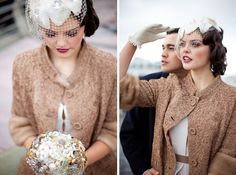 bridal style...with warm berry colors on eyes and lips