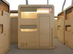 Sleepbox. could this be like a hostel but it would need some kind public space to get together arch group, public spaces, sleep box, airports, dream, boxes, arches, sleepbox, hotel
