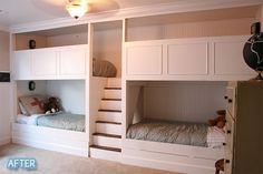 a plain old, normal person made this! Trundle beds underneath too. SIX BEDS. better-after-favorites