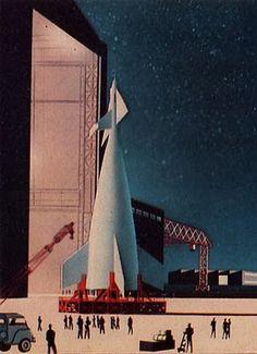 Still from Walt Disney's Mars and Beyond