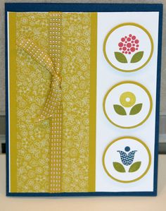 Stampin Up Bright Blossoms Card