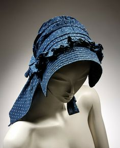 A bonnet from the V Museum from the 1850s or 1860s.