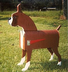 boxer dogs, boxer mailbox, definit, hous idea, dogmailbox, craft idea, boxers, boxer dog mailbox, mail boxes