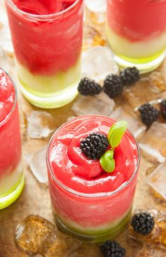 Frozen Blackberry Basil Lemonade | thekitchenmccabe.com