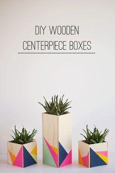 DIY: WOODEN CENTERPIECE BOXES