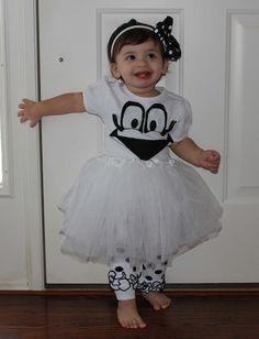 Ghost tutu costume for kids