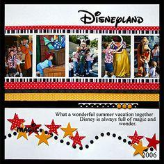 Disneyland scrapbook page