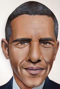 Illustration of Barack Obama, by Brook Meinhardt.