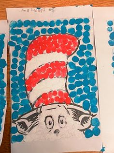 Cat in the Hat fingerpainting idea