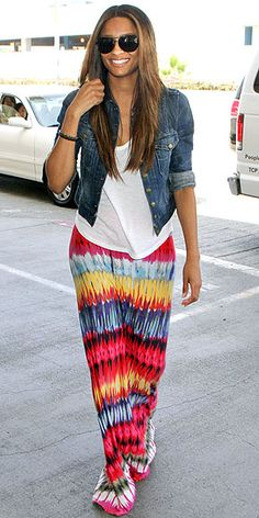 Love this tribal maxi skirt!