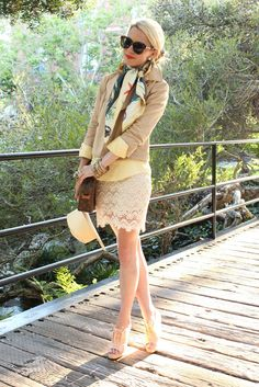 Top: RL. Jacket: Theory. Scarf: Jcrew. Skirt: c/o Ruche. Shoes: Rag & Bone. Sunglasses: Karen Walker. Bag: Vintage LV. Hat: H&M. Jewelry: David Yurman, Pomellato, Jcrew, Gap, BR, c/oAccessorize. Lips: Make Up Forever Professionals. Nails: Milani Juicy Glo.