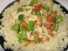 Low carb fried rice made from cauliflower...
