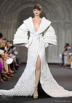 wedding dressses, stéphane rolland, fashion models, stephan rolland, runway, stephane rolland, white, haut coutur, haute couture