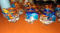 Finding nemo party theme on pinterest finding nemo for Plastic fish bowls dollar tree