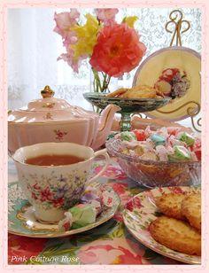 Pink Cottage Rose: Tea Party