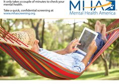 It only takes a couple of minutes to check your mental health status. Get screened: www.mhascreening.org