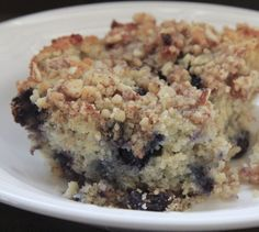 Low Carb Blueberry Buckle