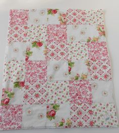 Minky Baby Girl Patchwork Quilt Blanket Hill by KristensCoverlets