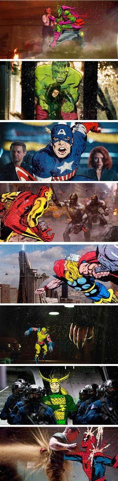 Marvel Comic designs In Marvel Movies