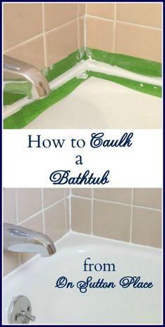 How To Caulk A Bathtub/Repair Grout!! - On Sutton Place