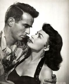 Montgomery Clift and Donna Reed in 'From Here to Eternity', 1953.