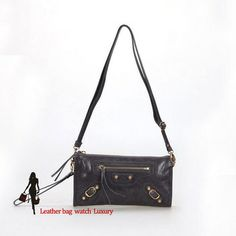 balenciaga 331683 Dark Grey little golden nail messenger bags
