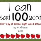 This resource is a perfect sight word activity for the 100th day of school.  Directions: Students will take turns asking each other to find a wor...