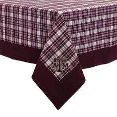 Texas A Tablecloth 55x55 - Pomegranate Collegiate