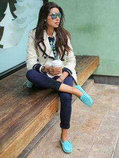 outfits, fashion, style, blue suede shoes, colors