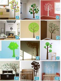 Nursery Wall Decals- trees