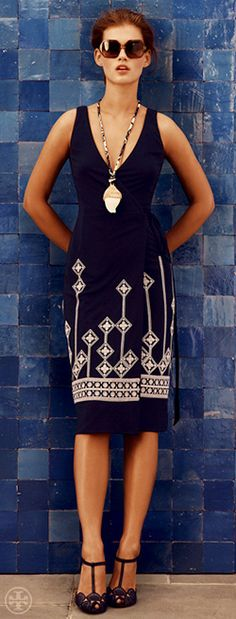 The Embellished Wrap Dress | Tory Burch Resort 2013