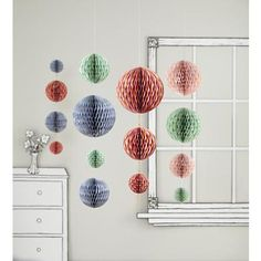 paper balls...would be so cute hanging from trees for a party in the park!