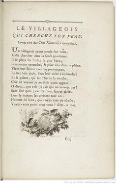 Joseph Barbou, ed. Contes et nouvelles en vers , par M. de La Fontaine, 1762.