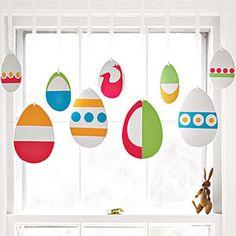 Window Dressing window dressings, egg crafts, egg hunt, easter crafts, dress up, easter decor, easter eggs, easter ideas, window valances