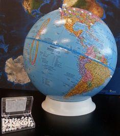 push pin globe!