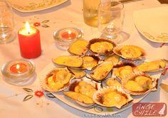 Typical Chilean Food: Machas y ostiones a la parmesana