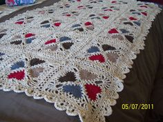 Cozy Hearts Afghan.