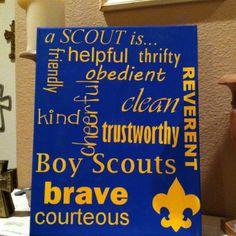 Boy Scout motto subway art